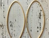 Gold Folded Hoop Earrings