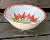 Custom xlarge serving bowl mixing bowl wedding bowl gift personalized custom popcorn bowls with names kiln fired pottery 9th anniversary