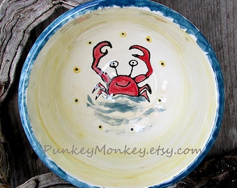 Custom pottery bowl you design cereal custom ice cream popcorn cereal soup salad wedding personalized kiln fired pottery kids teens adults