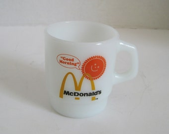 Vintage Fire King McDonalds Good Morning Golden Arches Coffee Cup Mug
