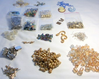 CLEARANCE DESTASH Lot B Jewelry Beads and Finding Supplies Jewelry Supplies Jewellery Supplies Beads Findings