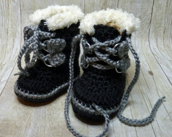 Custom Crochet Baby Expedition Boots Sorel style