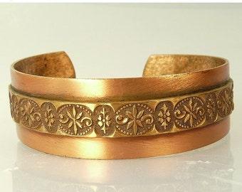 Vintage Southwestern Copper Cuff Bracelet