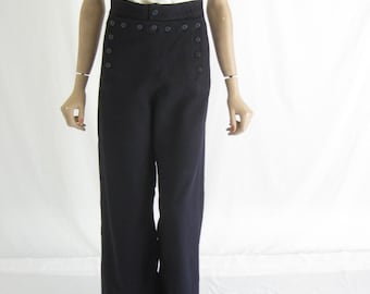 Vintage 70's Sailor Pants. Size Small