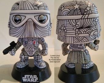 Custom Vinyl Funko Pop Star Wars Snow Trooper - Pop Art Toy by Howie Green