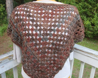 Wood-Brown Poncho and Hat