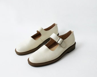 Vintage Comme Des Garcons Ivory Off White Mary Janes