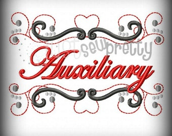 Auxiliary Pride Embroidery Design