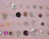 Rare, Antique, Mother Of Pearl Buttons, Collector Buttons, Scrapbooking Buttons, Embellishments, Sewing Buttons, Vintage Buttons