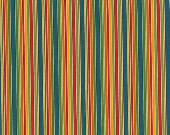 RJR Fabrics Lily's Garden 2030 21 Multi-Colored Stripes by the yard