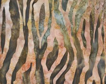 Kaufman Bali Batik Kalahari 5 14390 48 Jungle Zebra Print by the yard