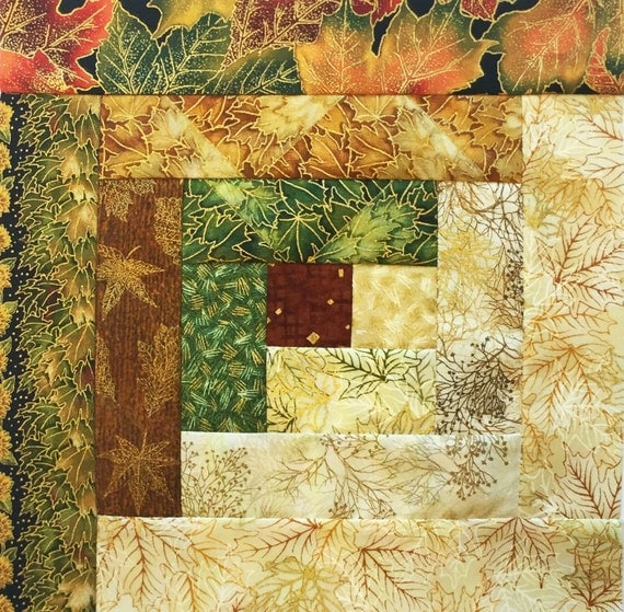 Log Cabin Block Jordan Pre Cut Quilt Kit Robert By