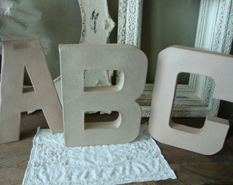 large paper mache letters abc wall decor diy crafts supplies ready to decorate baby room sign for kids room diy large letter making surface