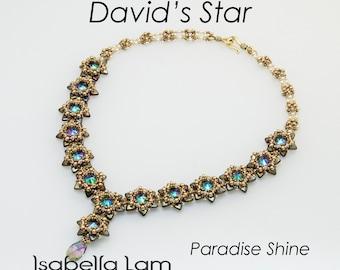 David's Star Beadwork Necklace  DIY Beading Kit (instructions and Materials)