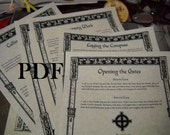 NEW Spells Rituals and Liturgy BOS Sheets specialty pack PDF -- 14 sheets -- Book of Shadows pages