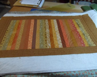 Fall Autumn Reversible Quilted Cotton Tablerunner for Home Decor at Halloween and Thanksgiving