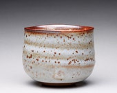 handmade matcha chawan tea bowl, ceramic bowl, pottery cup with shino glazes