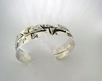 Modern Sterling Silver Cuff