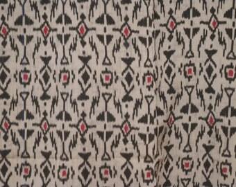 Vintage kimono S66, silk, geometric design