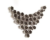1 pc -Matte Flower Silver Plated Base Necklace Bar- 120x110cm-(413-060SP)
