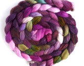 Merino/ Superwash Merino/ Silk Roving (Top) - Handpainted Spinning or Felting Fiber, Giant Celosia