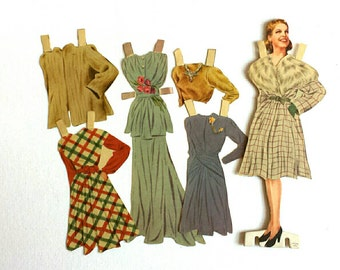 Vintage 40s Fashion Paper Doll