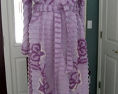 Item # 280 Summer Weight Glamour Girl Chenille Bath Robe/ Finished and Ready To Ship/Size Large/XL