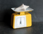Held for Ranjana - MidMod Mid Century Modern Bright Yellow Stube German Kitchen Scale