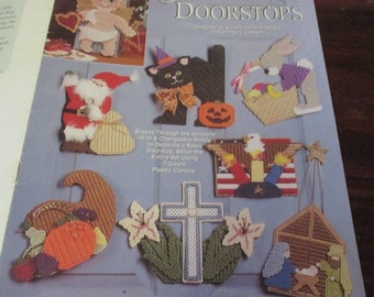 Plastic Canvas Patterns Holiday Door Stops Needlecraft Shop 953368 Plastic Canvas Pattern Leaflet