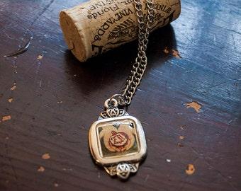 Eternity -  Pomegranate art pendant, Pomegranate necklace, pomegranate charm, wearable art