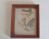 Valentines Day Sale Vintage 1920s lady framed print