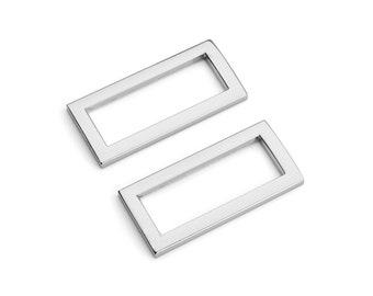 "10pcs - 1 1/4"" (32mm) Flat Zinc Square Ring - Nickel - (FSR-112) - Free Shipping"
