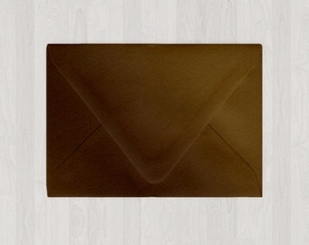 10 4Bar Envelopes - Euro Flap - A1 - Brown - DIY Invitations and Response Cards - Envelopes for Weddings and Other Events