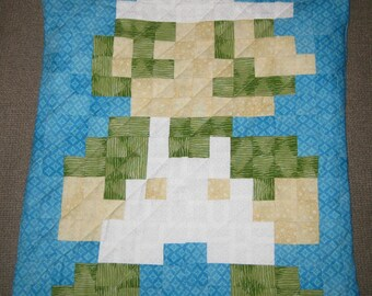 Retro Luigi Quilted Pillow Cover - Free USA Shipping