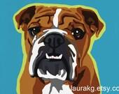 Pop Art Dog 5 Greeting Cards Bulldog Colorful