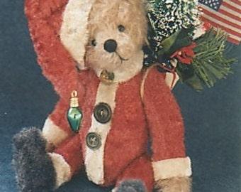 """Nicky"""" a 9"""" Christmas bear by Linda Johnson of BEARDEAUX BEARS"""