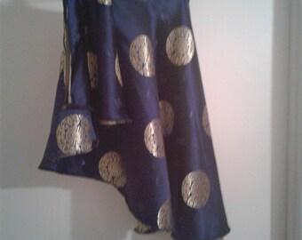 Asymmetrical  Reversible Circle Wrap Skirt