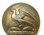 "1800s Bird BUTTON, Antique Victorian Livery metal button 1""."