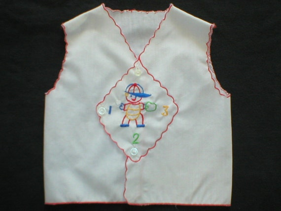 Baby Infant Diaper Shirt Mayfair Baseball Top Crisp White Red