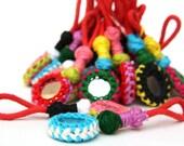 Banjara Tassels , Kutch Mirror Tassels,  Kutchi Latkans,Assorted Colors 10 Piece lot, Crochet double sided mirror, Clothes, Bags, Shoes Acc.