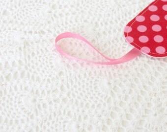 Single Luggage Tag - Pink Polka Dots
