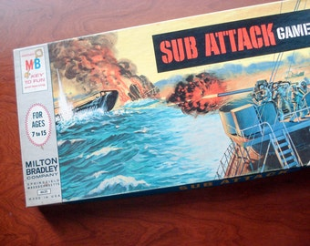 Sub Attack - Vintage board game - 1965 - complete - very good condition