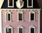 Vintage Darling Wood Three Story Georgian Doll House