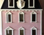 Vintage Darling Wood Three Story Georgian Doll House