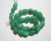 "Natural Chrysoprase Nugget Gemstone Beads - 6-7x7-9mm - 8"" strand"