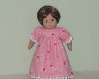 American Girl Bitty Baby Dolls Nightgown Rose Pink with Flowers