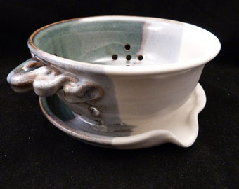 WheelWorksPottery - Berry Bowl - Winter Coat - New Design