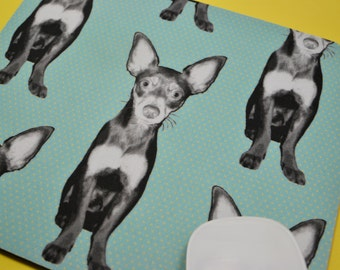 Buy 2 FREE SHIPPING Special!!   Mouse Pad, Fabric Mousepad   Chihuahua