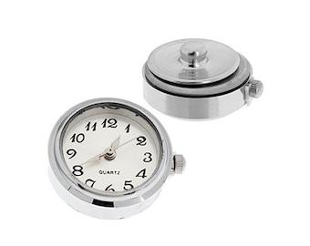 One Piece Interchangable Watch Face Snaps - White 18mm