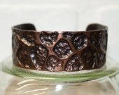 """6"""" recycled copper cuff, cuff, copper jewelry, brass, recycled, hammered metal, hammered copper, copper bracelet, stacylynnc, handmade"""